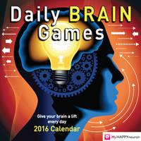 Daily Brain Games Page-A-Day Calendar 2016