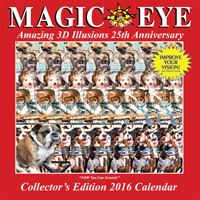 Magic Eye Wall Calendar 2016