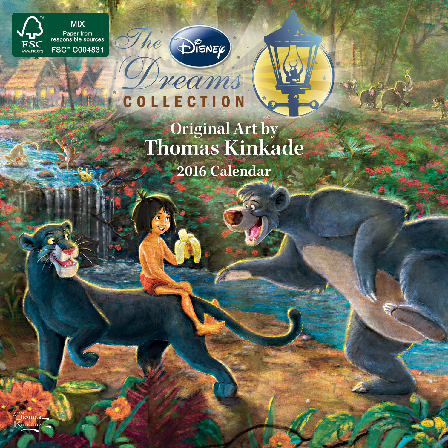 Thomas Kinkade: The Disney Dreams Collection Mini Wall Calendar 2016 9781449468729