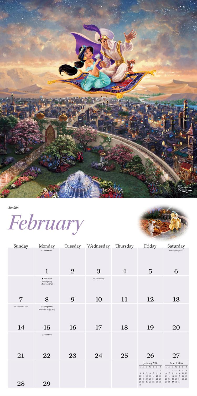 Thomas Kinkade: The Disney Dreams Collection Wall Calendar 2016 inside 9781449468712