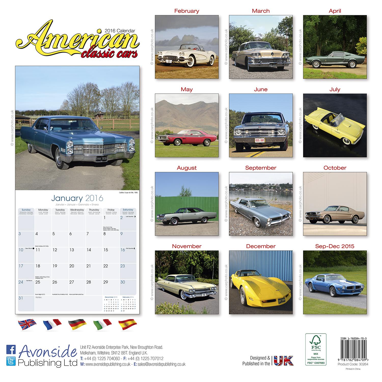 American classic cars calendar 2016 pet prints inc for American classics inc