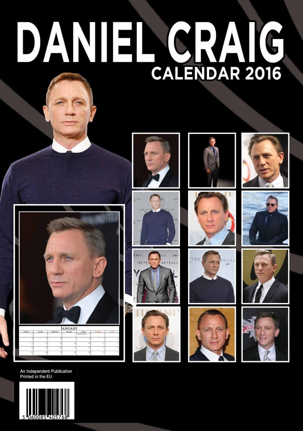 Daniel Craig Celebrity Wall Calendar 2016  back 9788898521692
