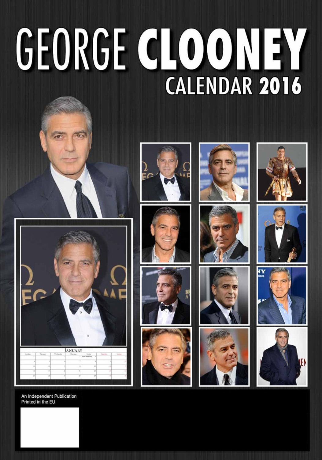George Clooney Celebrity Wall Calendar 2016  back 9788898521494