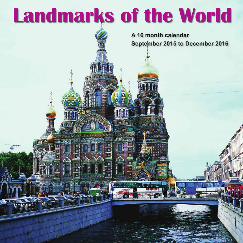 Landmarks Of The World Calendar 2016 MGSPI01   Travel, Places, Scenery