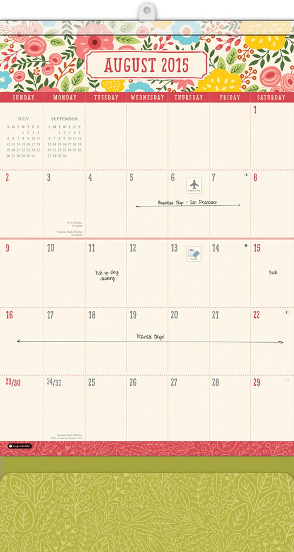 Bold Blossoms Do It All Wall Calendar 2016 inside 9781622267293