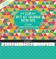 Retro Days Do It All Wall Calendar 2016