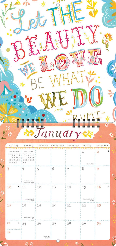 Rise & Shine Studio Redux Calendar 2016 inside 9781622267668
