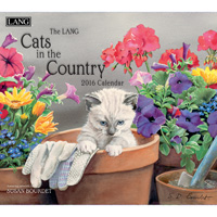 Lang: Cats In The Country Wall Calendar 2016