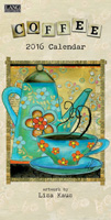 Lang: Lisa Kaus Coffee Verical Wall Calendar 2016