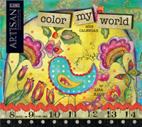 Lang: Color My World Wall Calendar 2016