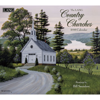 Lang: Country Churches Wall Calendar 2016