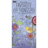 Lang: Favorite Things Verical Wall Calendar 2016