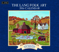 Lang: Folk Art Wall Calendar 2016