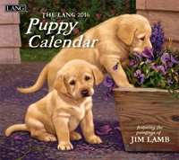 Lang: Puppy Wall Calendar 2016 by Lang