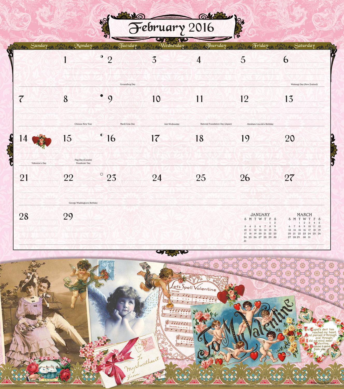 Vintage Holidays Note Nook Calendar 2016 inside 9780741250018