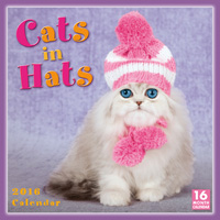 Cats in Hats Wall Calendar 2016