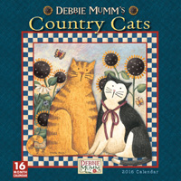 Country Cats by Debbie Mumm Wall Calendar 2016
