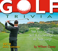 Golf Trivia Page-A-Day Calendar 2016