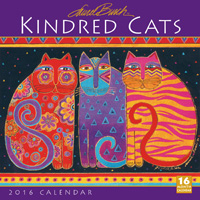 Kindred Cats by Laurel Burch Wall Calendar 2016