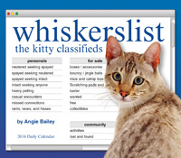 whiskerslist: the kitty classifieds Page-A-Day Calendar 2016