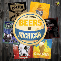 Beer Labels of Michigan Wall Calendar 2016
