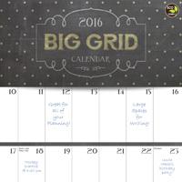 Big Grid: Chalk It Up Wall Calendar 2016