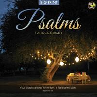 Psalms (Big Print) Wall Calendar 2016