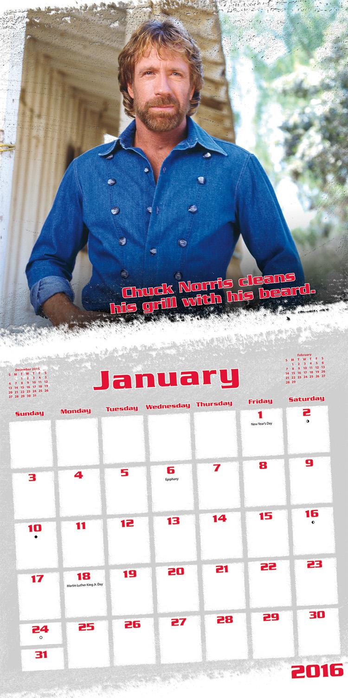 Chuck Norris Wall Calendar 2016 inside 9781438840581