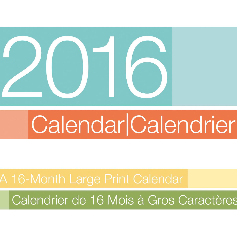 1500 x 1500 jpeg 295kB, Large Print/Gros Caractères Calendar 863072 ...