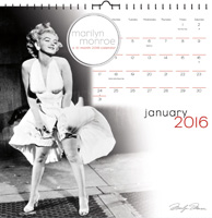 Marilyn Monroe Art Wall Calendar 2016