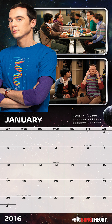 The Big Bang Theory Mini Wall Calendars 2016 inside 9781438839332