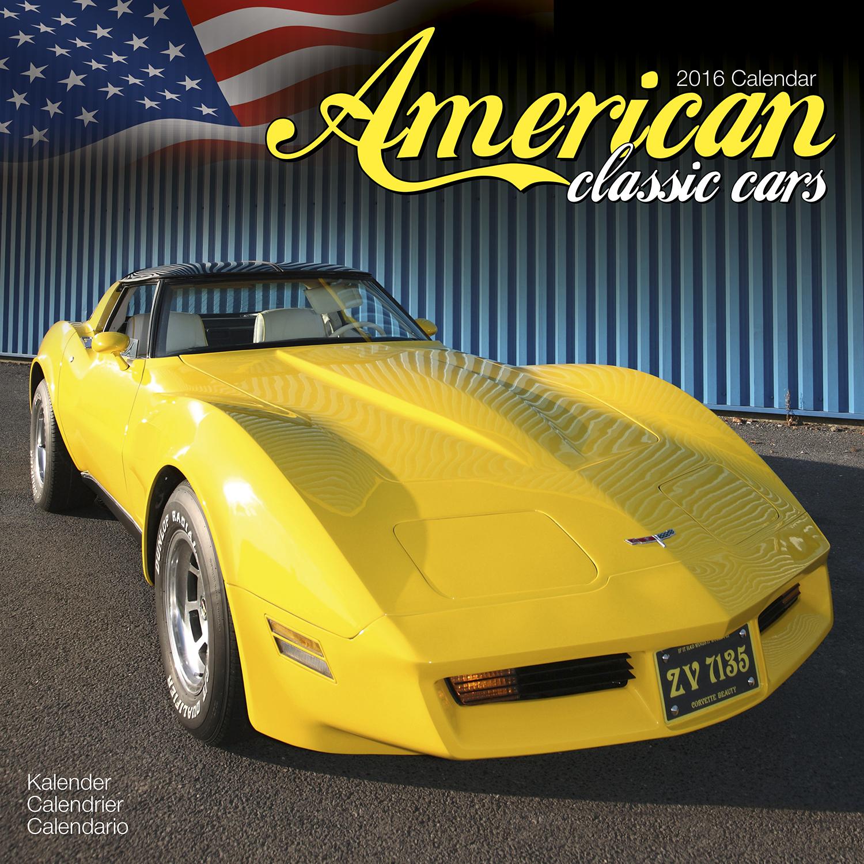 american classic cars calendar 2016 pet prints inc. Black Bedroom Furniture Sets. Home Design Ideas
