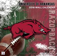 Arkansas Razorbacks Wall Calendar 2016