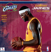 Cleveland Cavaliers Lebron James Wall Calendar 2016