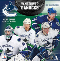 Vancouver Canucks Wall Calendar 2016
